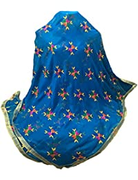 Beautiful Phulkari Dupatta In Blue