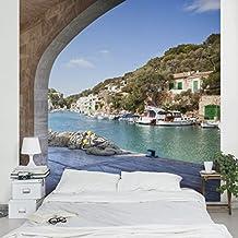 Fotomural - Cala Figuera Mallorca - Mural cuadrado, papel pintado, fotomurales, murales pared, papel para pared, foto, mural, pared barato, decorativo