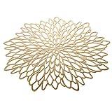 EQI Tischset Rund Gold, Platzset Rund für Hochzeit, Geburtstag, Weihnachten, Rutschfest, Durchmesser 38CM (Gold,6) - 9