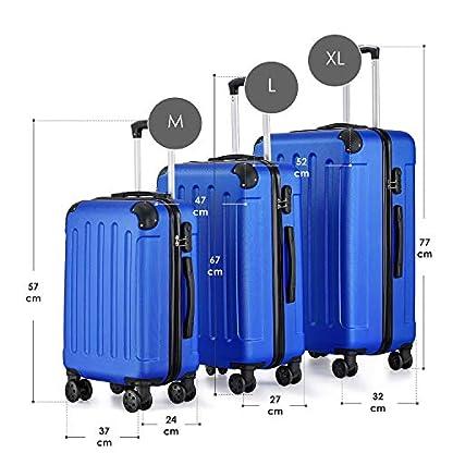 Juskys-Hartschalenkoffer-Set-Yara-3-teilig-mit-Zahlenschloss-Teleskopgriff-Rollen-und-Reiverschluss-3-Farben-Koffer-Set-Kofferset-Trolley-Rollkoffer