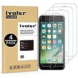 [4 Pack] Pellicola Vetro Temperato iPhone 8 / 7 / 6s / 6 [Garanzia a Vita], iVoler ** [Protezione Antigraffi] **Anti-riflesso Ultra-Clear** Ultra resistente in Pellicola iPhone 8 / 7 / 6s / 6, Pellicola Protettiva Protezione Protettore Glass Screen Protector per iPhone 8 / 7 / 6s / 6.Vetro con Durezza 9H, Spessore di 0,3 mm,Bordi Arrotondati da 2,5D - Transparente
