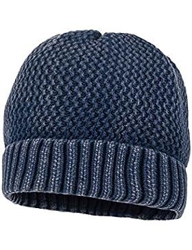 maximo Mädchen Mütze mit Umschlagrand, Waschoptik, Used Look