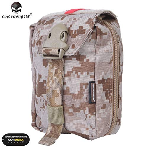 INFIKNIGHT INF Emersongear Military First Aid Kit Medic Pouch Molle Military Airsoft Paintball Combat Pouches EM6368 Multicam AOR1 Emerson Gear - Medic First Aid