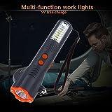 TOOGOO USB 29 LED Notfall Taschenlampe Hammer Guertel Cutter Arbeit