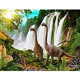 Fototapete Dinosaurier Vlies Wand Tapete Wohnzimmer Schlafzimmer Büro Flur Dekoration Wandbilder XXL Moderne Wanddeko - 100% MADE IN GERMANY - Wasserfall Runa Tapeten 9191010b