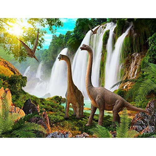 fototapete dino Fototapete Dinosaurier Vlies Wand Tapete Wohnzimmer Schlafzimmer Büro Flur Dekoration Wandbilder XXL Moderne Wanddeko - 100% MADE IN GERMANY - Wasserfall Runa Tapeten 9191010b