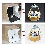 Koolertron Mini Folding Studio Diffuse Soft Box mit LED-Licht schwarz / weißem Hintergrund Fotostudio Zubehör - 9