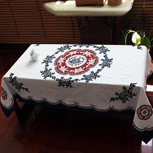 Baumwolle gedruckt Pfingstrose Muster im chinesischen Stil TV-Abdeckung Tuch 137 * 137cm ()