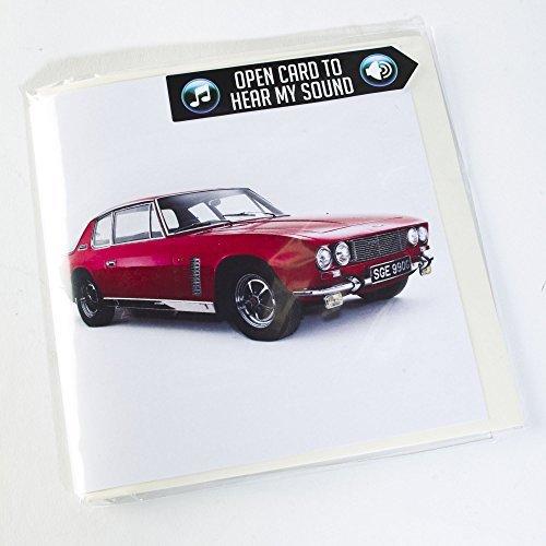 jensen-interceptor-1969-coche-deportivo-tarjeta-de-felicitacion-con-motor-sonido-interior