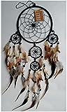 Handmade Nylon Rope Dream Catcher by FormBox - LARGE 17cm (Black)