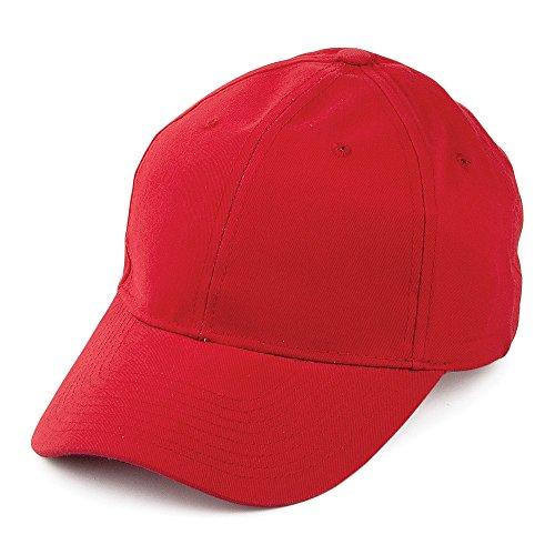 Casquette en Coton Brossé rouge - Ajustable