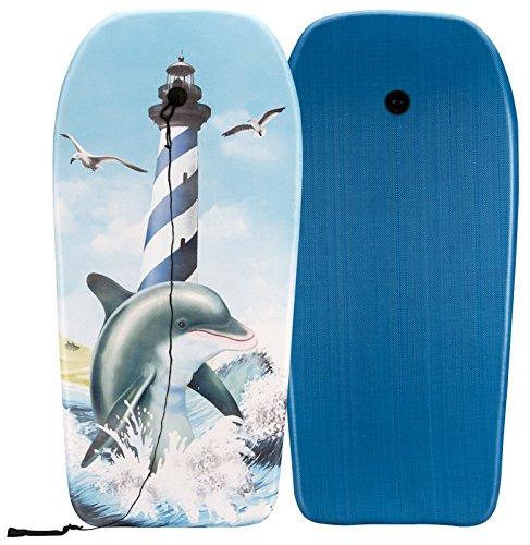 Waimea Classic Shape Bodyboard Wellenreiten Body Board EPS Kern Wassersport 52WU(Delfin Blue)