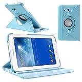 jbTec® Tablet-Hülle/Tasche zu Samsung Galaxy Tab 3 Lite 7.0 / SM-T111 / SM-T116 WiFi/SM-T110 / SM-T113-360° Baby-Blau - Case Schutzhülle Cover