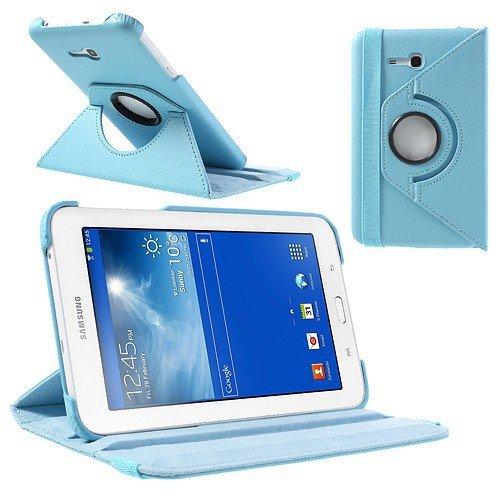 jbTec® Tablet-Hülle / Tasche zu Samsung Galaxy Tab 3 Lite 7.0 / SM-T111 / SM-T116, WiFi / SM-T110 / SM-T113 - 360° Baby-Blau - Case, Schutzhülle, Cover