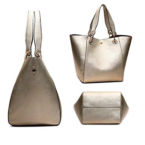 Tibes Moda spalla sacchetto impermeabile borsetta di pelle sintetica A d'oro