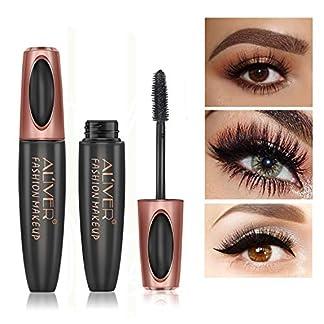 4D Silk Fiber Eyelash Mascara, Extra Long Lash Mascara Waterproof Not Blooming Curling Natural Eye Makeup Long Lasting Black