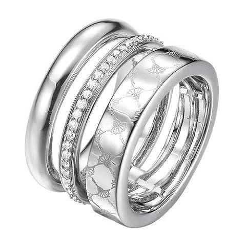 Joop Damen-Ring rhodiniert Zirkonia weiß Gr. 60 (19.1)-JPRG00014A190