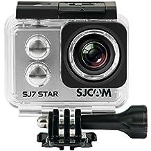SJCam SJ7 Star - Cámara deportiva (4K, WiFi, 12 MP, pantalla táctil 2.0'', SuperView, sumergible 30 m) color plata