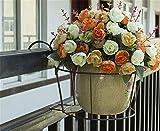 CUYY Parapetto for balconi Parapetto for Fiori in Ferro battuto Appeso a Parete Multi-Strato Appeso Vaso da Fiori cremagliera di Verdure Appeso scaffale di Fiore Verde Orchidea (Color : Black)
