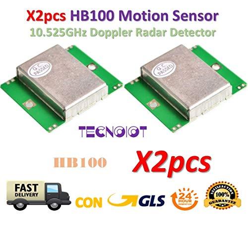 2pcs HB100 Microwave Motion Sensor 10.525GHz Doppler Radar Detector -
