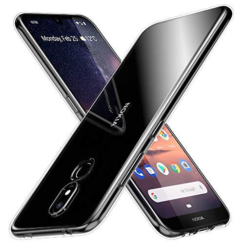 Peakally Nokia 3.2 Hülle, Soft Silikon Dünn Transparent Hüllen [Kratzfest] [Anti Slip] Durchsichtige TPU Schutzhülle Case Weiche Handyhülle für Nokia 3.2-Klar