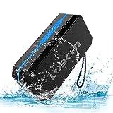 LOBKIN Bluetooth Tragbare Lautsprecher Wasserdicht Speaker Stoßfest Boxen Wireless Stereo Boombox mit eingebautem Mikrofon Kabelloser Musikbox mit 8-Stunden Spielzeit und TF Karte