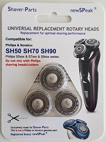 Cabezales de afeitado Modelo SH50 SH70 SH90, alternativa Nueva cabezales para Philips/afeitadoras Norelco.