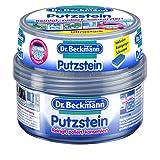 Dr. Beckmann Putzstein | Universalreiniger mit Aktivkohle | inkl. 2-Phasen-Putzschwamm (400 g)