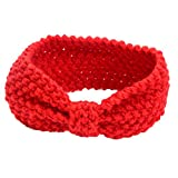 sukisuki bebé niñas diadema hairband lazos Crochet de Punto Cálido accesorios para el pelo rojo rosso Talla:talla única
