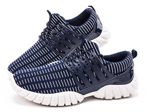 NEWZCERS Eleganti durevoli Scarpe da corsa leggere scarpe da tennis per gli uomini Blu