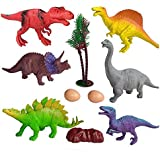 Shoro Cartoon Animal,Dinosaur Figures Set for Kids,Dinosaur Animal Play Set, Educational Toy Learning Toy - Assorted Size (Pack of 6 Assorted Dinosaur Animals)
