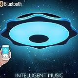 GRFH Camera da letto moderna Soggiorno Intelligent Multi-Function di musica LED delle luci di soffitto Bluetooth Living Room lampada a soffitto sala da pranzo Embedded, a forma di fiore di colore del bambino Camera Lights