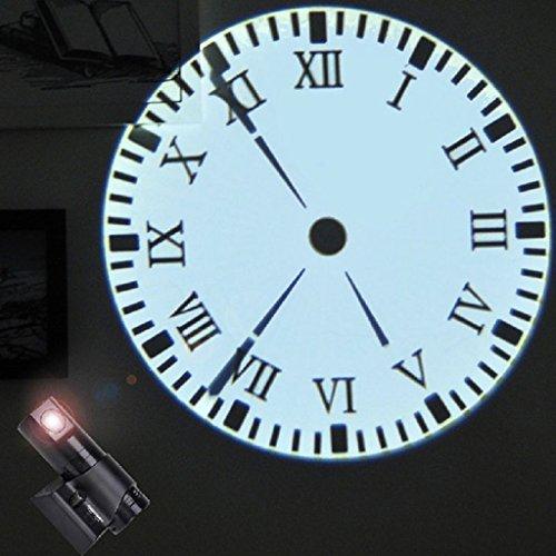 FLAMEER 60° Projektionswecker Projektions Funkuhr Wanduhr bis 5m - Mit Remote Black