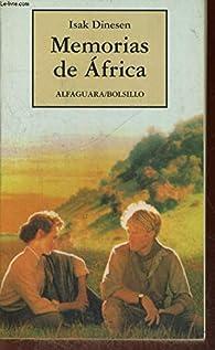 Memorias de África par Isak Dinesen