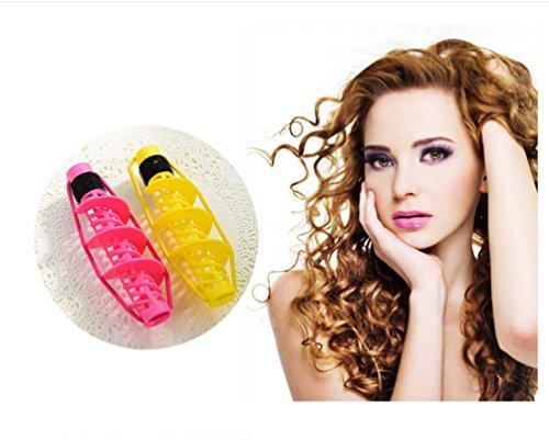 XYLUCKY 4 Stück magische DIY Mini Haar Curler tut nicht weh, Haar Lockenstab (2 Roll-klettverschluss Zoll 1)