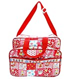 Wonderkids Red Multi Print Baby Diaper B...