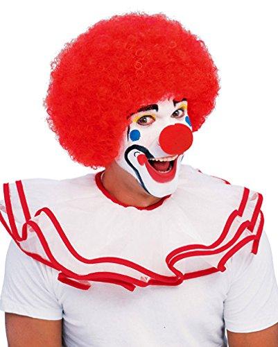 Clown perruque rouge