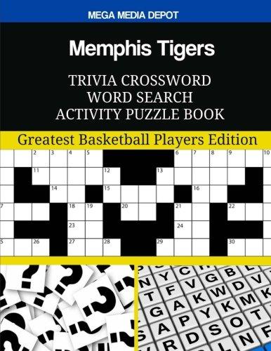 Memphis Tigers Trivia Crossword Word Search Activity Puzzle Book por Mega Media Depot