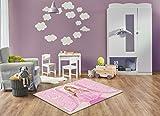 Keymura Moderner Teppich mit schönem Druck/Design Prinzessin | Größe: 160x230 cm - Qualität, Design, Modern zu einem Hammerpreis! Für Kinderzimmer, Wohnzimmer, Flur, Schlafzimmer geeignet!