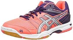 Asics Gel-Hunter 3, Zapatos de Bádminton para Mujer, Azul (Indigo Blue/White/Azalea Pink), 39 EU