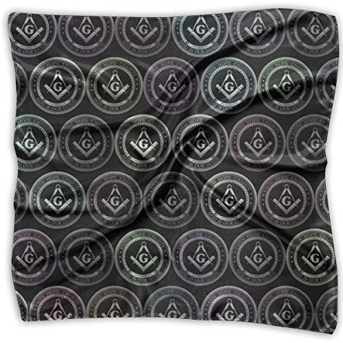 xiadayu Multi-Colors Design Square Satin Womens Neck Head Scarf Scarves Masonic Faith Hope Charity Freemason Logos Satin Square Neck