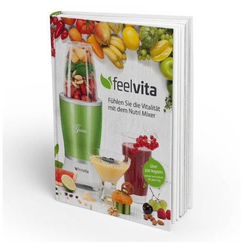 Preisvergleich Produktbild Genius Feelvita Rezeptbuch / Smoothie & Shakes / Gesundheit & Vitalität / Mixen / Kochen / Backen / Zubereiten / Ernährung / Fitness