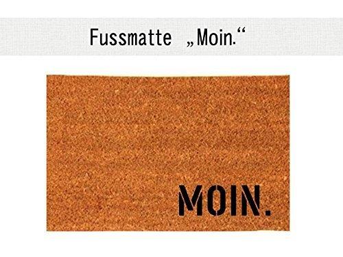 MOIN. Kokos-Fußmatte Teppich Fußabtreter 40 x 60 cm Geschenk Weihnachten Einzug Geburtstag