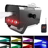 Machine à Fumée, Theefun Machine à Brouillard avec Télécommande sans Fil, 7 lumières colorées, Idéal pour les Fêtes, les Discos DJ, les Bars, les Mariages, les Défilés et les Théâtrales