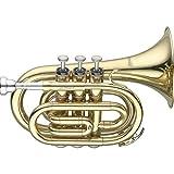 Levante LV-TR4415 Trompette de poche Sib Or laqué