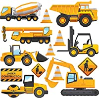 Construction Vehicles - Pack of 14 - Wall Art Vinyl Printed Stickers