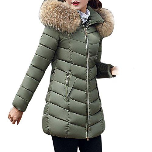 BBring Damen Mode Outwear, 2017 Neuer Frauen Slim Fit unten Jacken Winter Warmer Unten Mantel mit Gefälschter Pelz mit Kapuze Parka Jacken Mantel (L, (Kostüme Lace Short Sleeve)