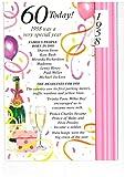 Simon Elvin 2017,Geburtstagskarte zum 60. Geburtstag – 1957 – ein besonderes Jahr, in dem Sie geboren wurden, für Damen (mit englischem Text)