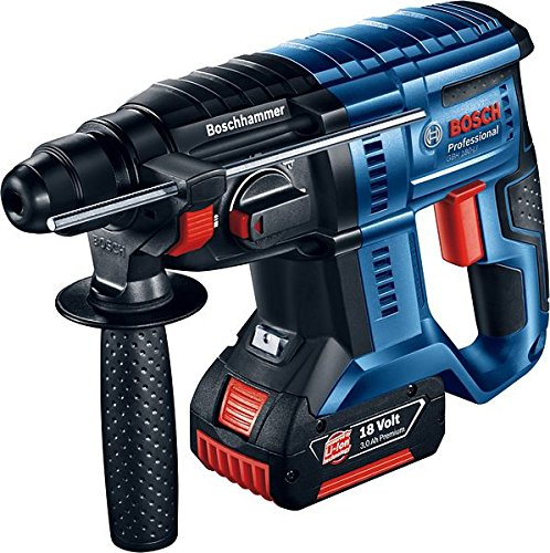 Preisvergleich Produktbild Bosch 0611911003 Professional Akku-Bohrhammer GBH 18 V-20 (2 x 5,0 Ah Akku, Schnellladegerät AL 1860 CV, Schlagenergie max.: 1,7 J, 18 Volt System, Koffer)