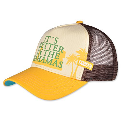 COASTAL - Bahamas (yellow) - Trucker Cap Meshcap Kappe Mütze Cappy Caps